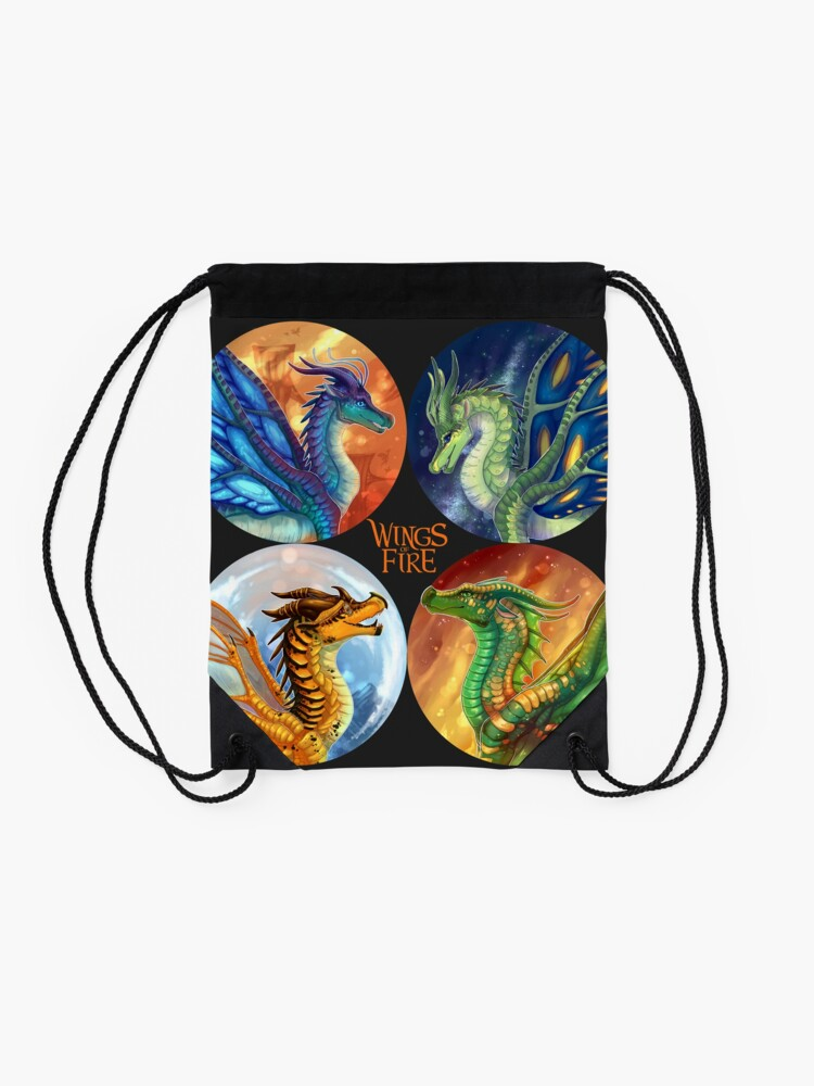 Alternate view of Wings of Fire - Heroes of the Lost Continent Drawstring Bag