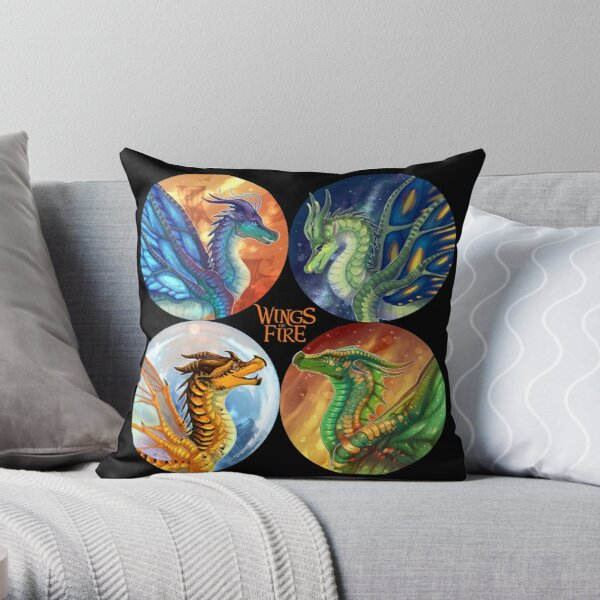 Wings of Fire - Heroes of the Lost Continent Throw Pillow