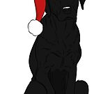 Black Lab - Merry Christmas by rmcbuckeye