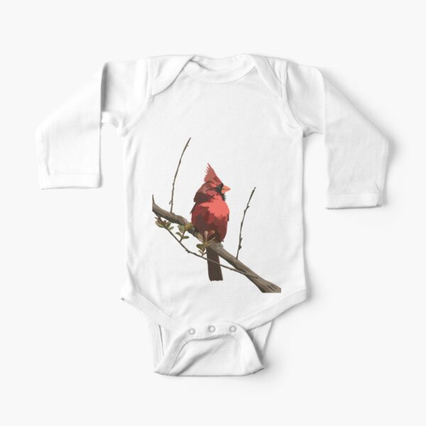 Cardinal Long Sleeve Baby One-Piece