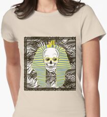 Skull Pharaoh, Day of The Dead, Vintage Vector illustration Womens Fitted T-Shirt