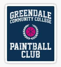 Greendale Community College Paintball Club Sticker