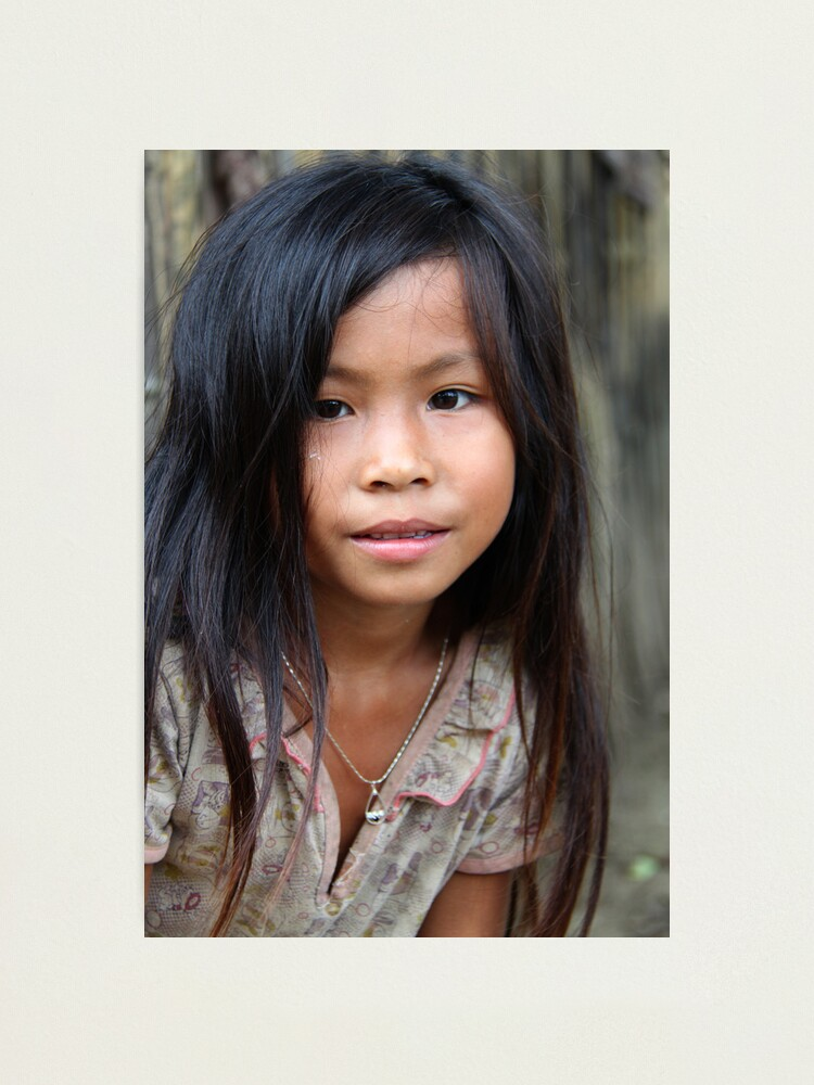 Alternate view of Lao girl Photographic Print