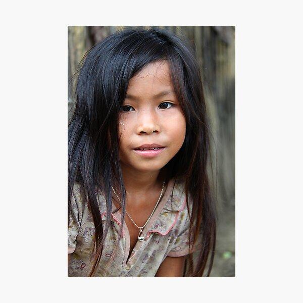 Lao girl Photographic Print