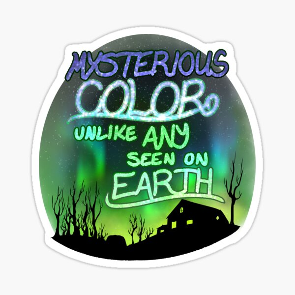 Mysterious Color Unlike Any Seen On Earth Sticker