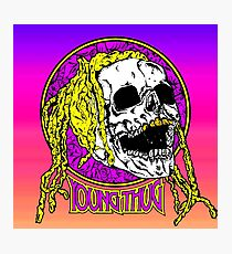 Young thug skull Photographic Print