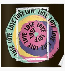 Love. Typography, t-shirt graphics, vectors Poster