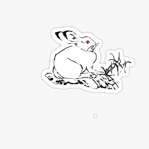 El conejo de linterna salvaje Pegatina