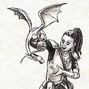 Training Time For Tiny Dragon Fantasy Illustration Art Print By Stephsmith Redbubble