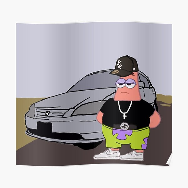 gangster Patrick star Poster