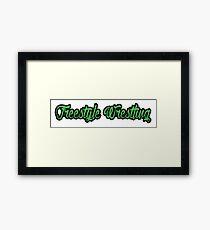 Freestyle Wrestling Green  Framed Print