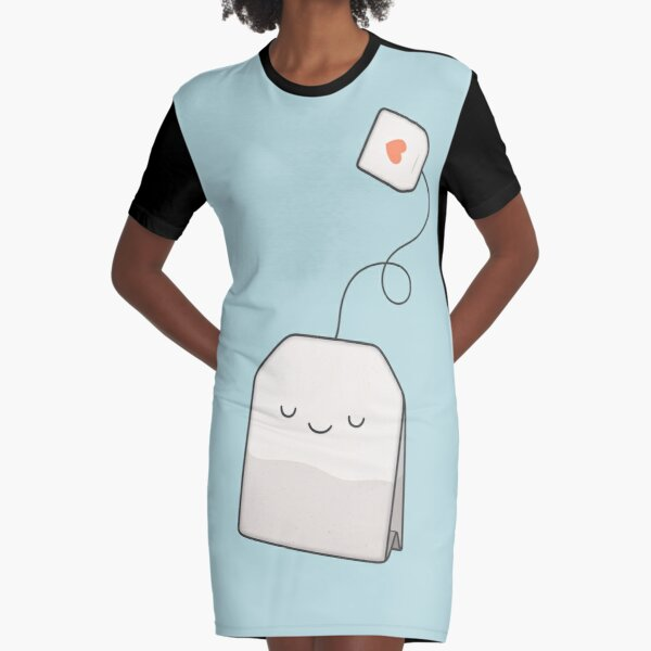 Tea time Graphic T-Shirt Dress