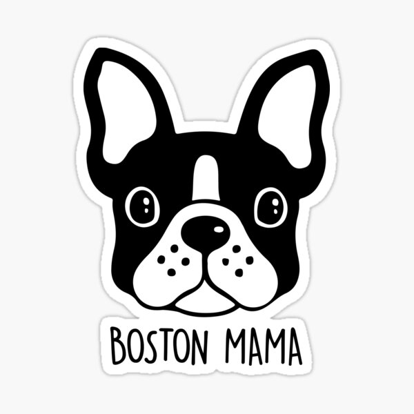 Boston Terrier maman - Boston Mama Sticker