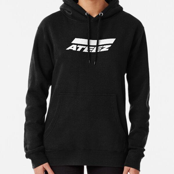 Logo ATEEZ (blanc) Sweat à capuche épais