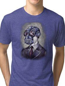 Gas Mask Man Tri-blend T-Shirt