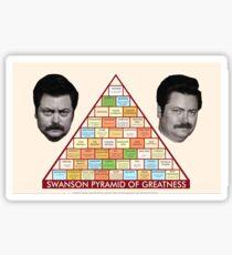 Swanson Pyramid of Greatness Sticker