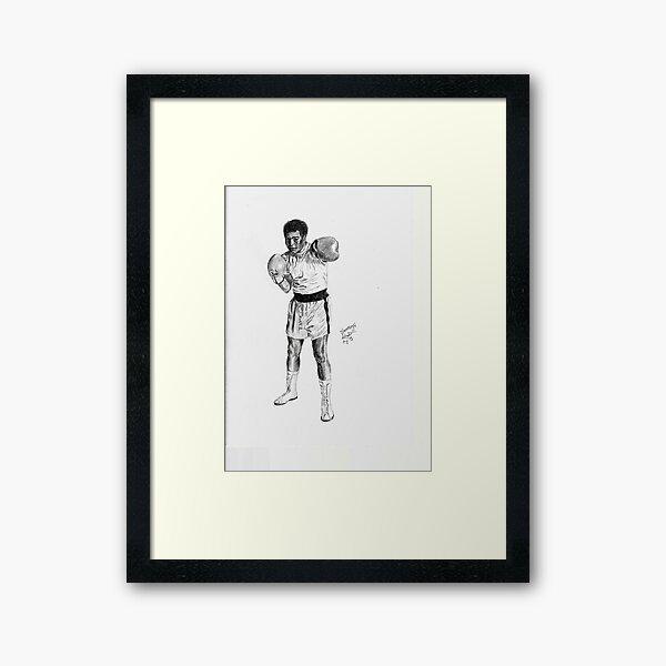 Mohammed Ali the Boxer Framed Art Print