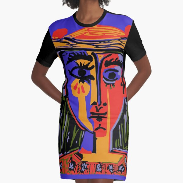 Picasso - Woman's head #4b Graphic T-Shirt Dress