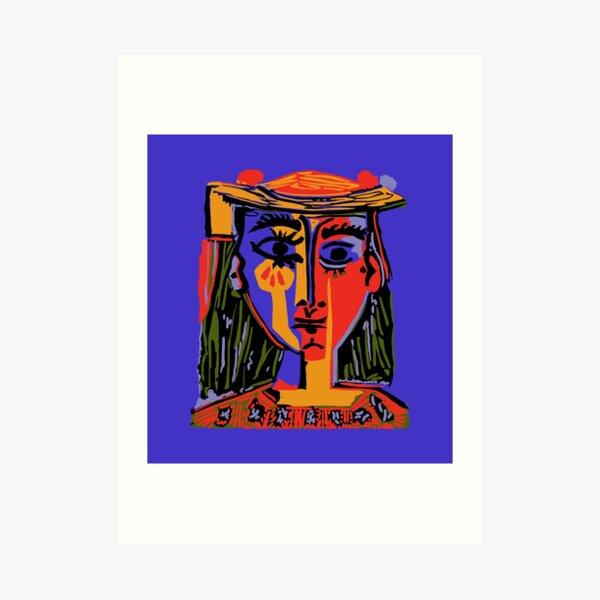 Picasso - Frauenkopf # 4b Kunstdruck