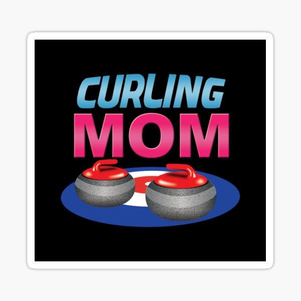 'Curling Mom' (Black) Sticker
