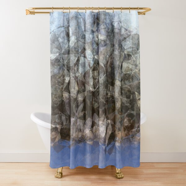 Abstract winter pattern Shower Curtain
