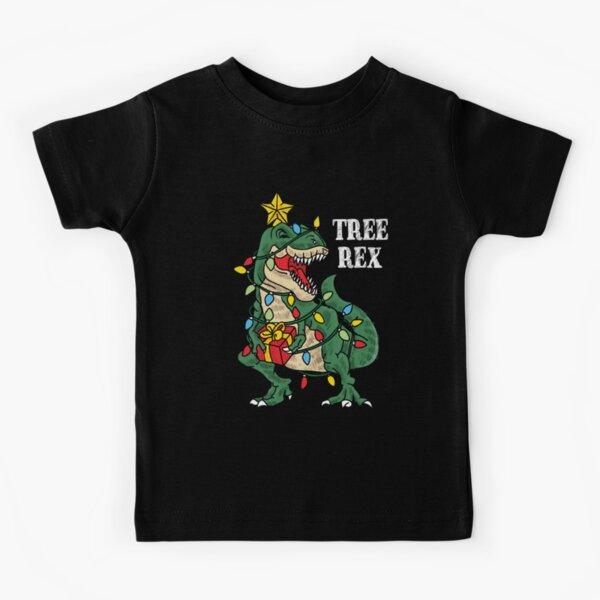 Christmas Dinosaur Tree Rex Funny Xmas Gifts For Kids Boys Girls Kids T-Shirt
