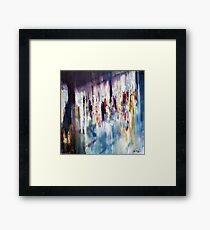 Displacement of light and colors  Framed Print
