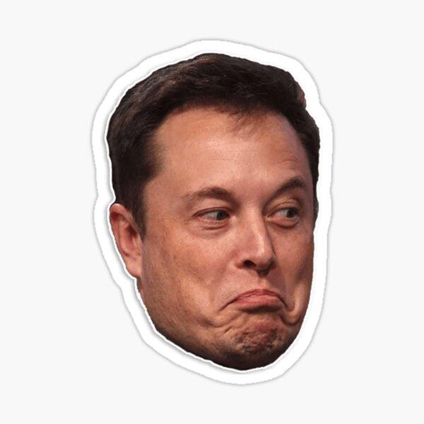Elon musk meme design Sticker