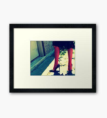 Betsey Legs Framed Print