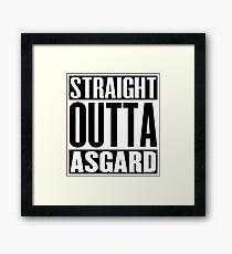 Straight Outta Asgard Framed Print