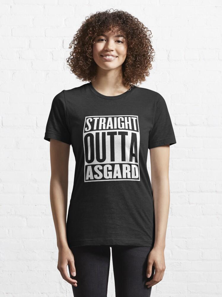 Alternate view of Straight Outta Asgard Essential T-Shirt