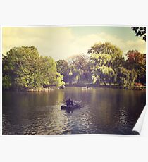Central Park Row Boats Poster