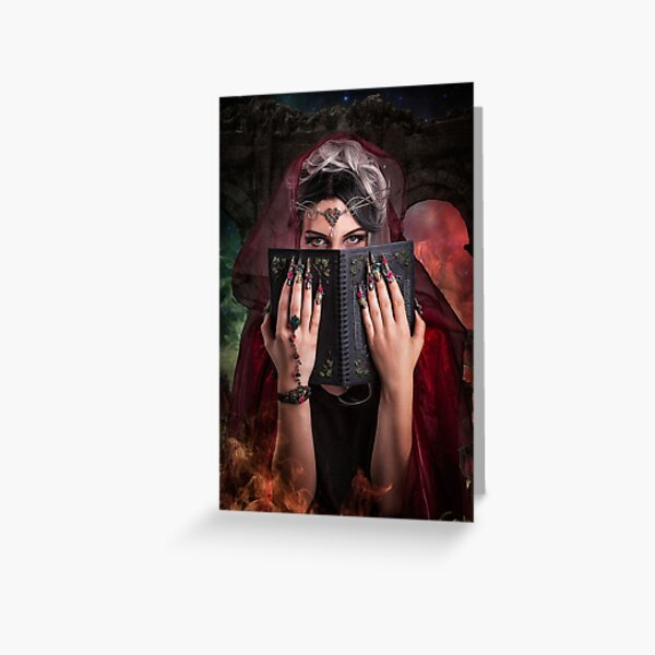 Spell Book Greeting Card