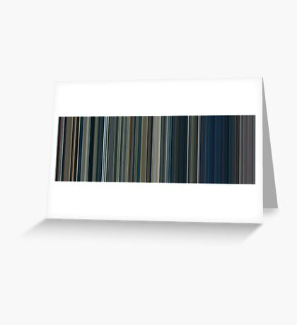 Moviebarcode: The Lord of the Rings: The Two Towers (2002) [Simplified Colors] Greeting Card