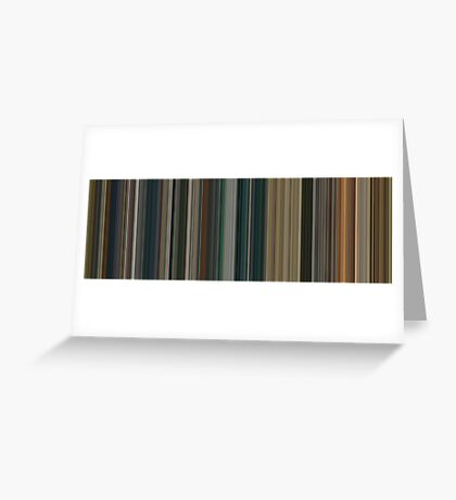 Moviebarcode: The Lord of the Rings: The Return of the King (2003) [Simplified Colors] Greeting Card