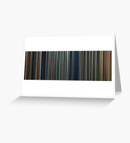 Moviebarcode: The Lord of the Rings Trilogy (2001-2003) Greeting Card