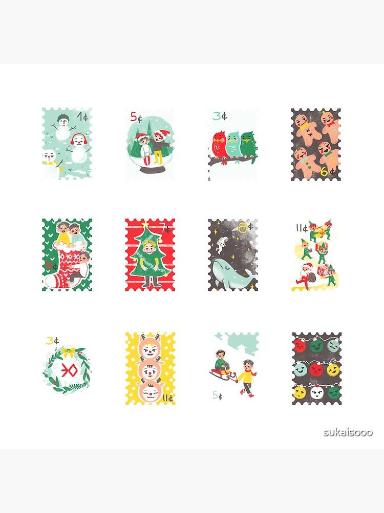 Exo sellos de navidad de sukaisooo