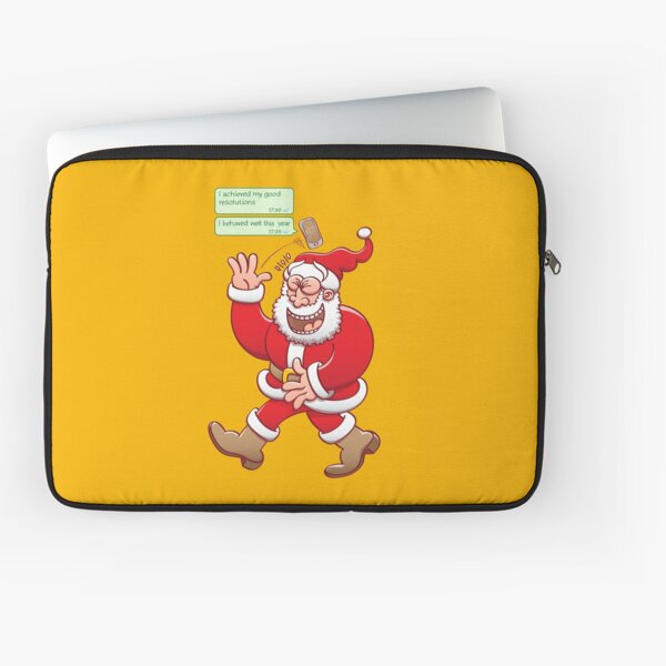 Santa burst out laughing at text messages from people who suposedly behaved well all year long Laptop Sleeve