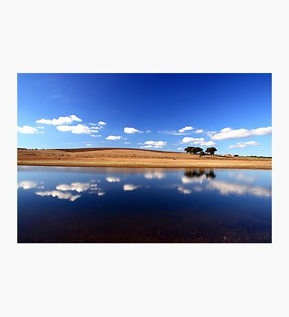 Blue Reflections Photographic Print