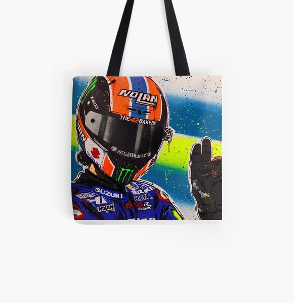 Alex Rins graffiti painting by DRAutoArt All Over Print Tote Bag
