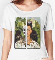 Frida Kahlo - Self Portrait (1940) Skeleton Version Women's Relaxed Fit T-Shirt