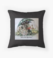 Gollies saying Rain Rain Go Away Throw Pillow