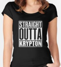 Straight Outta Krypton Women's Fitted Scoop T-Shirt