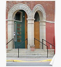 City Hall Front Doors ~ 1894 Poster