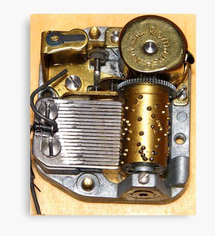 Music Box Mechanism Canvas Print