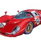 Ferrari 412P 330 P4 1967 Le Mans by Yuriy Shevchuk