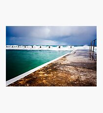 Merewether Ocean Baths before the Storm Photographic Print