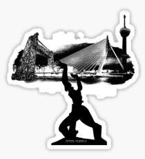 Rotterdam skyline Sticker