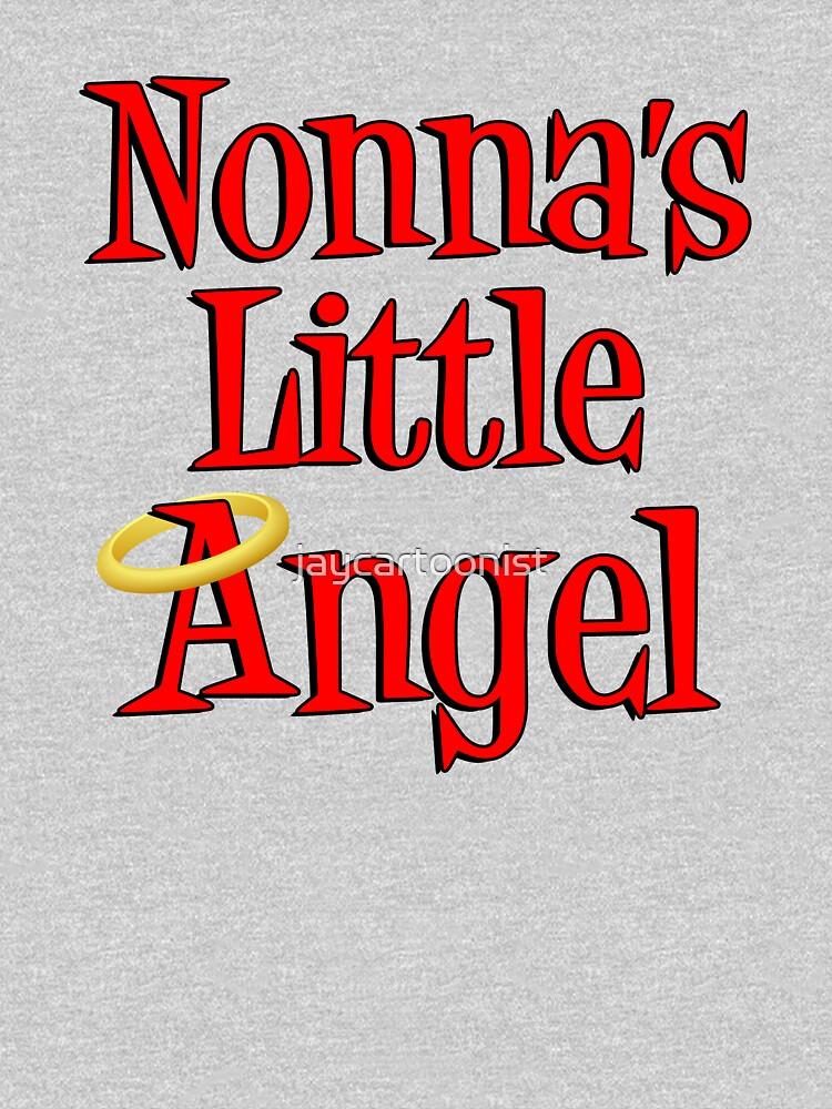 Nonna's Little Angel Halo Design Italian Child by jaycartoonist