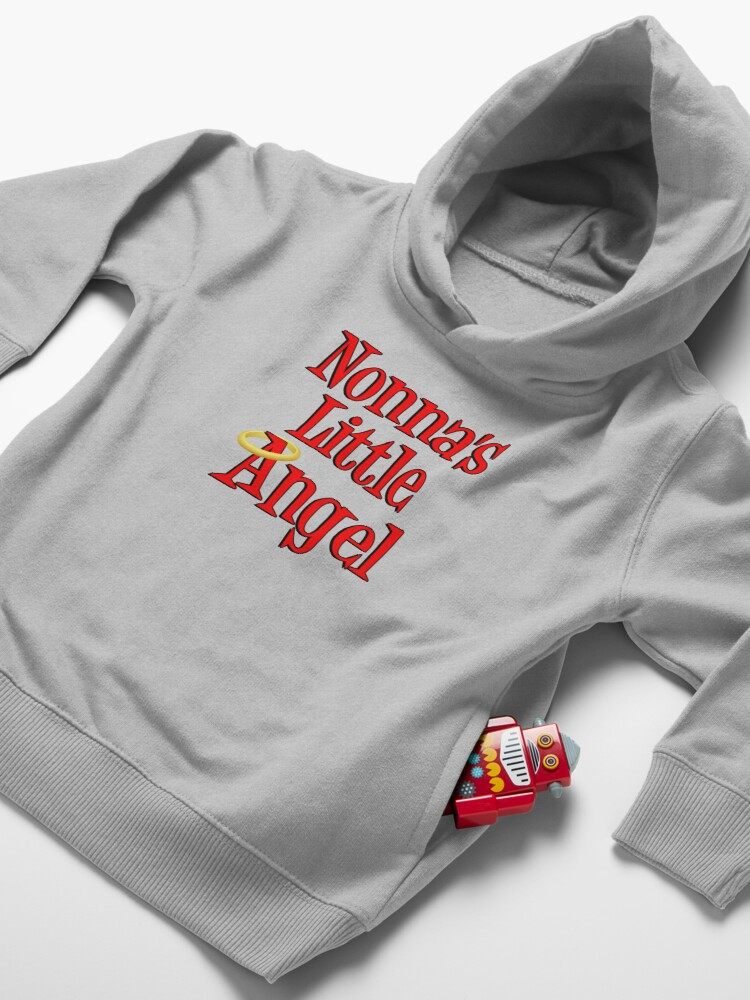 Alternate view of Nonna's Little Angel Halo Design Italian Child Toddler Pullover Hoodie